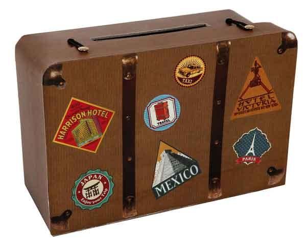 Reise Koffer Geld Box Hochzeit Geburtstag Confetti