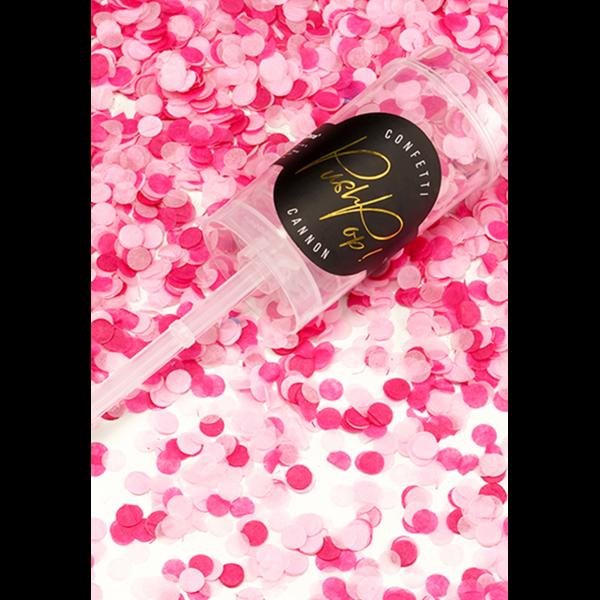 konfetti popper rosa & pink