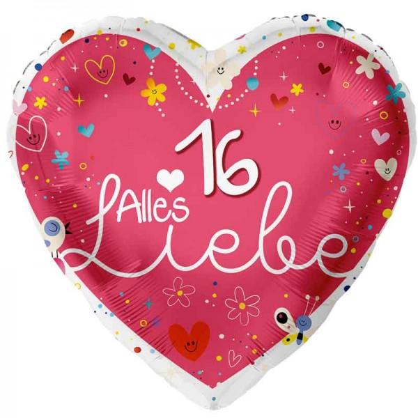Folienballon Alles Liebe 16