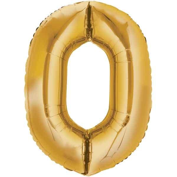 Folienballon Zahl 0 - 86cm XXL