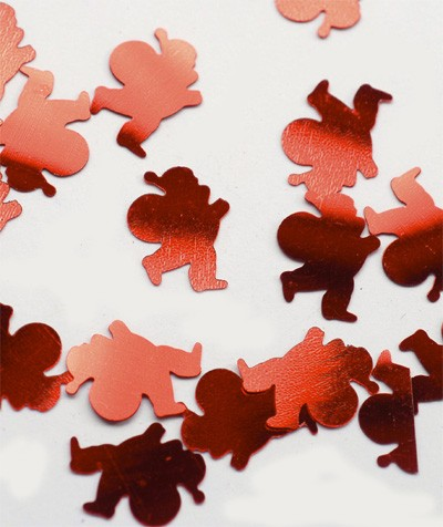 Konfetti 'Weihnachtsmänner' metallic rot