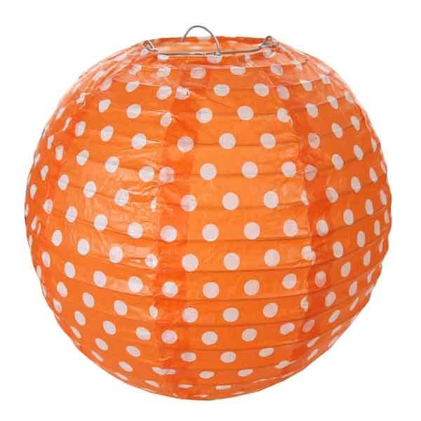 Laternen orange mit Punkte