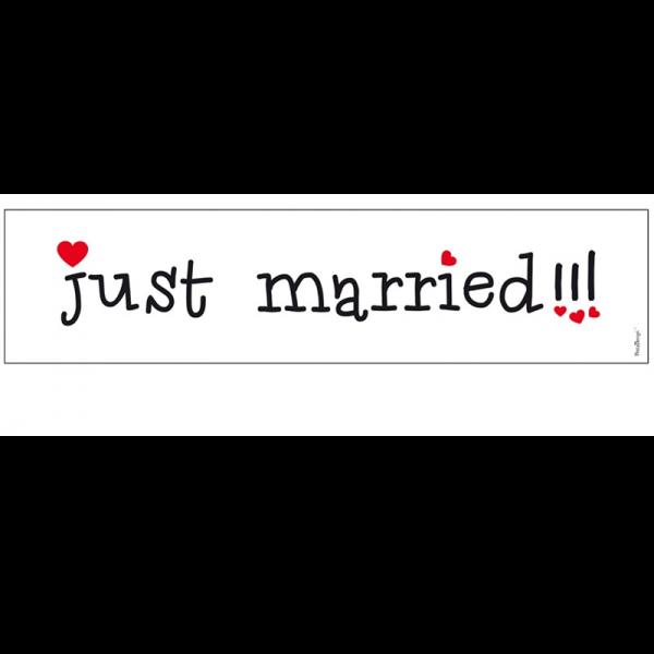 Auto Nummernschild just married