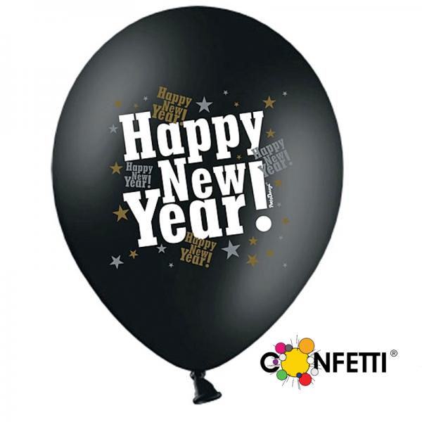 Luftballons Happy New Year (VPE: 6 Stück)