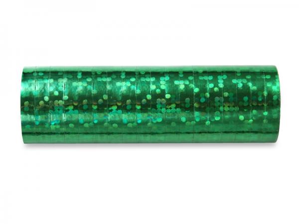 Luftschlangen grün Hologramm