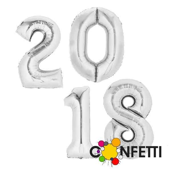 Zahlen Folienballons 2018