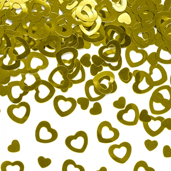 Konfetti Herzen gold