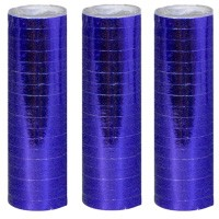 Luftschlangen blau metallic, 1 Rolle