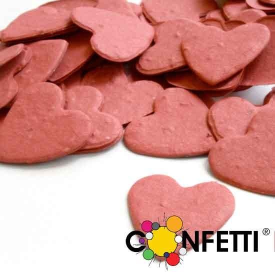 Blühende Konfetti Herzen rot