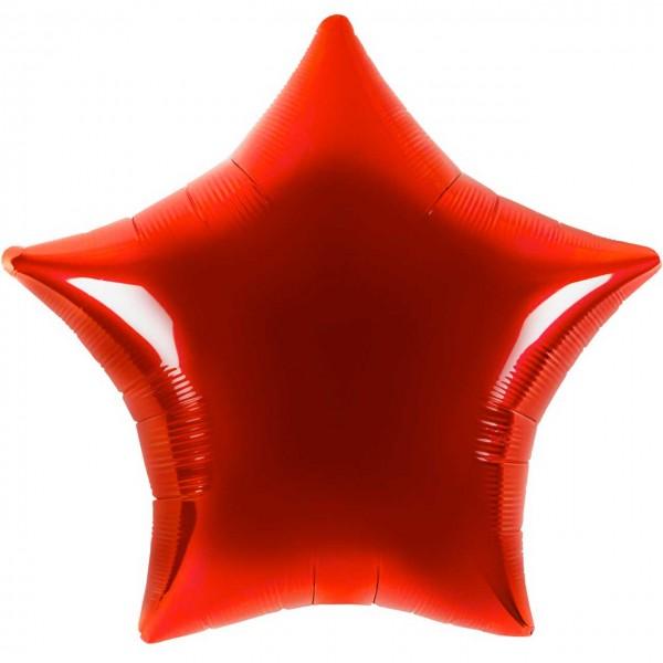 Folienballon - Ø 45cm - Stern - Rot