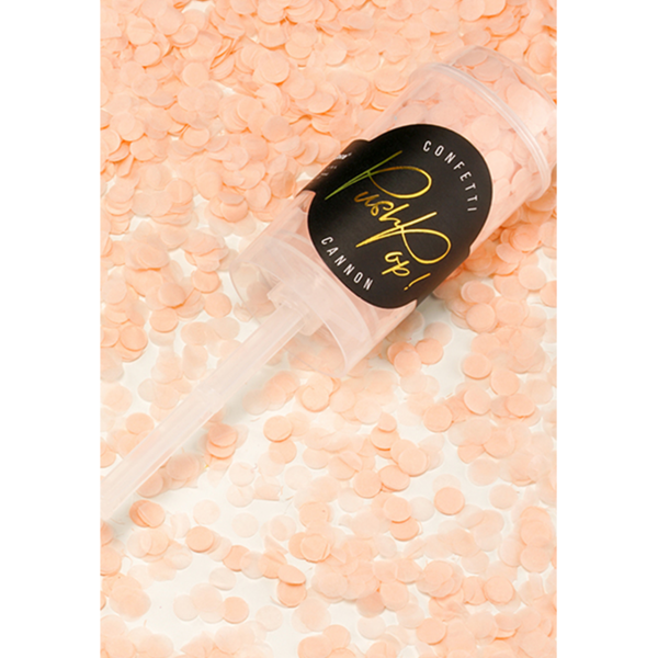 konfetti popper rosa pfirsich