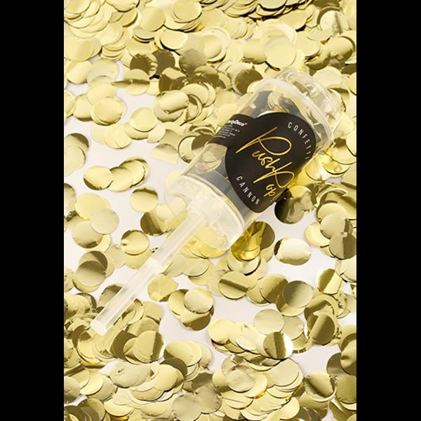 Konfetti Popper gold