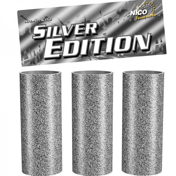 Tischfeuerwerk Silber Edition 3er-Beutel