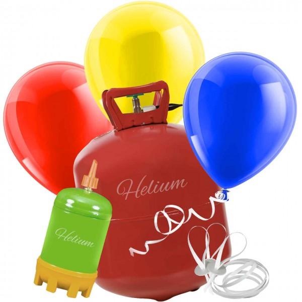 Helium Luftballon Set bunt metallic