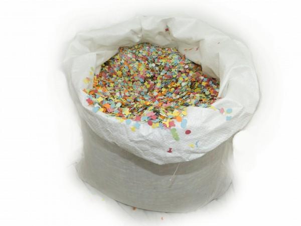 Öko Konfetti bunt 10 kg Sack