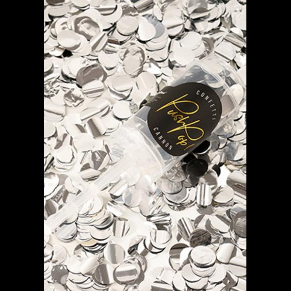 konfetti popper silber