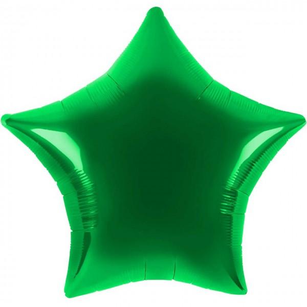 Folienballon - Ø 45cm - Stern - Grün
