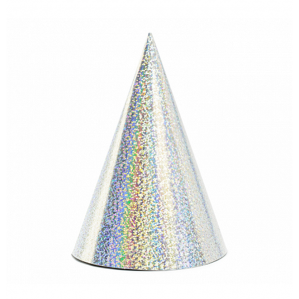 Partyhüte holographic silber