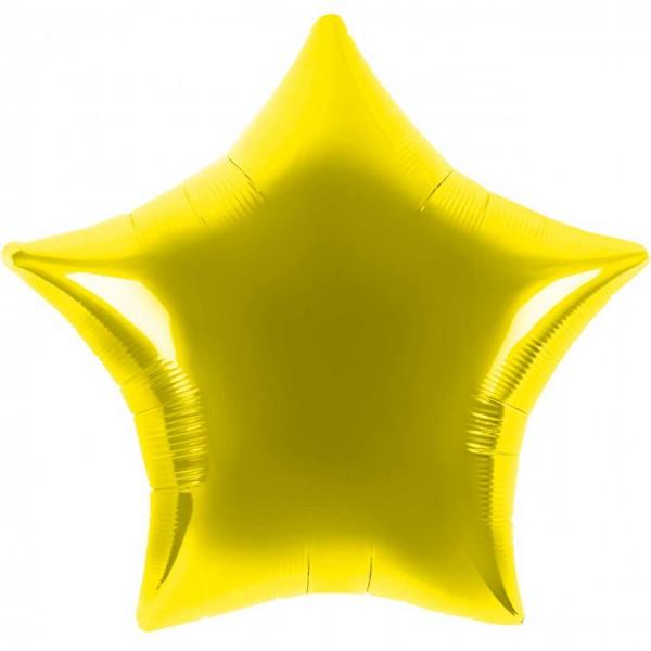Folienballon - Ø 45cm - Stern - gold