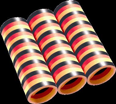 Deutschland Luftschlangen schwarz rot gold