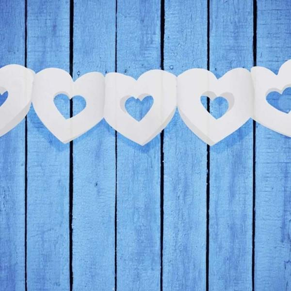 Herzgirlande weiß Hochzeit