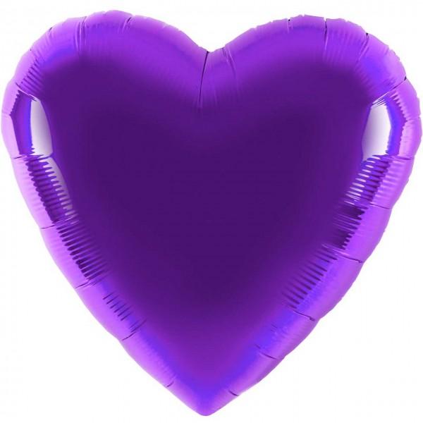 Folienballon - Ø 45cm - Herz - lila