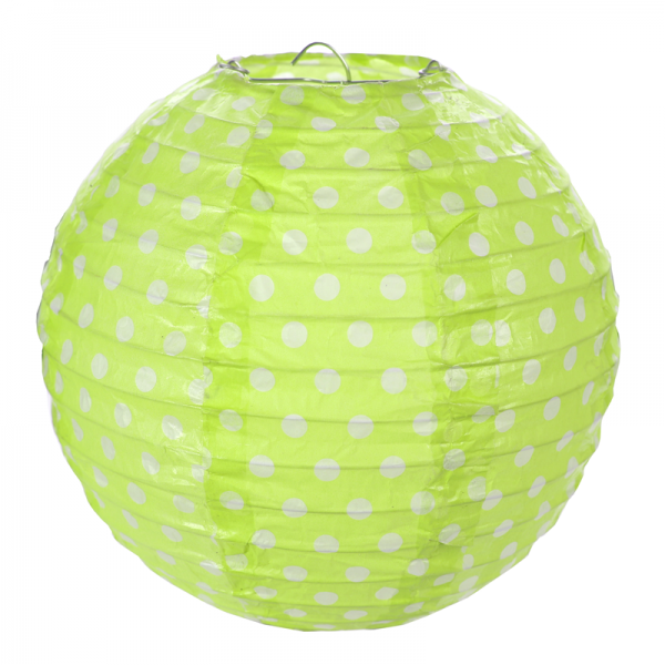 Laterne rund, Punkte grün