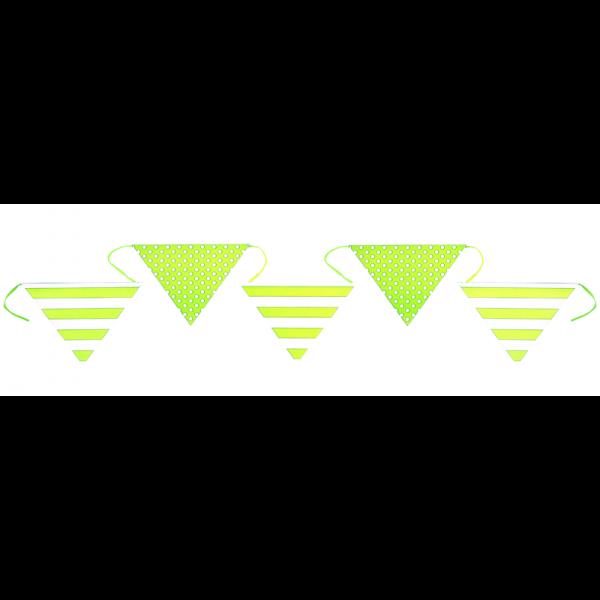 Wimpelkette grün weiß