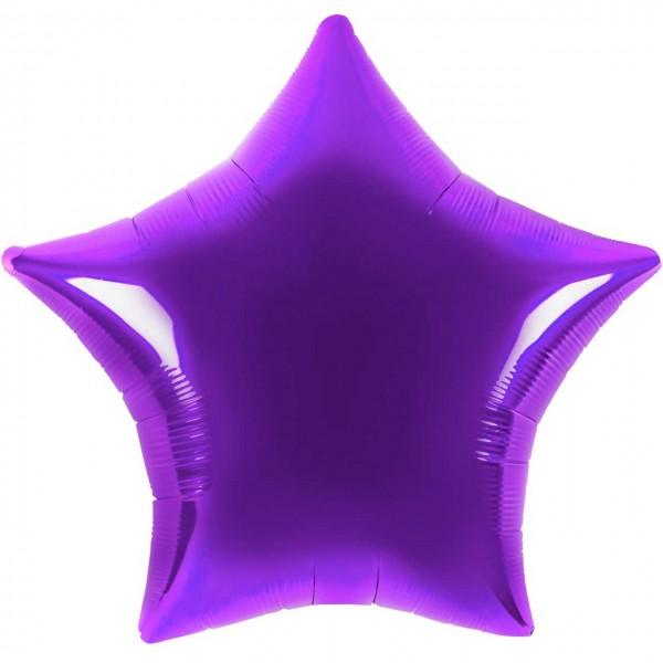 Folienballon - Ø 45cm - Stern - lila