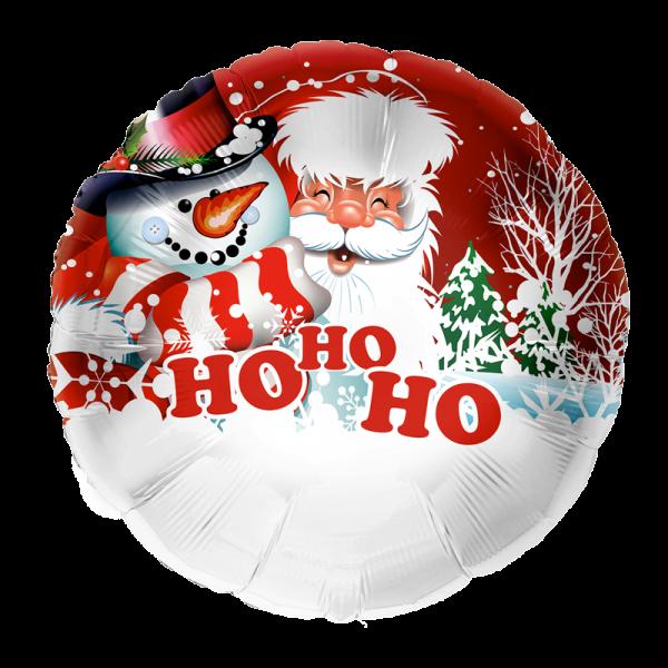 1 Folienballon - Ø 45cm - Ho Ho Ho