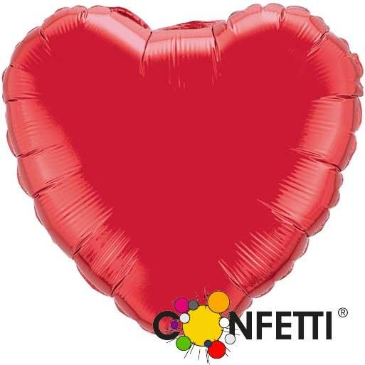 Folienballon - Ø 45cm - Herz - Rot