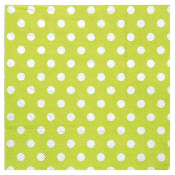 Servietten Punkte grün