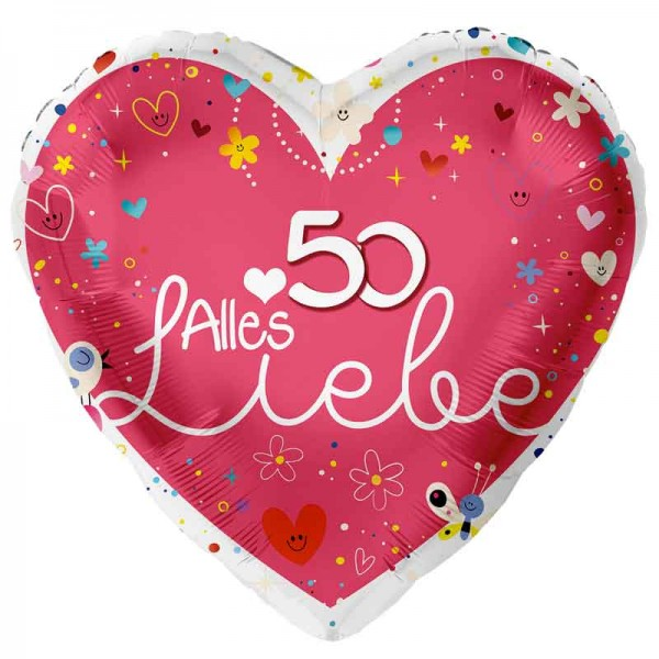 Folienballon Alles Liebe 50