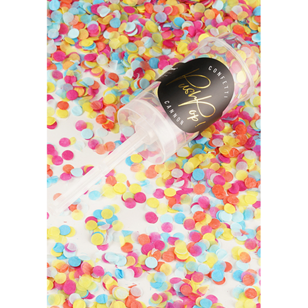 konfetti popper bunt