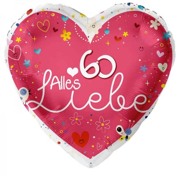 Folienballon Alles Liebe 60