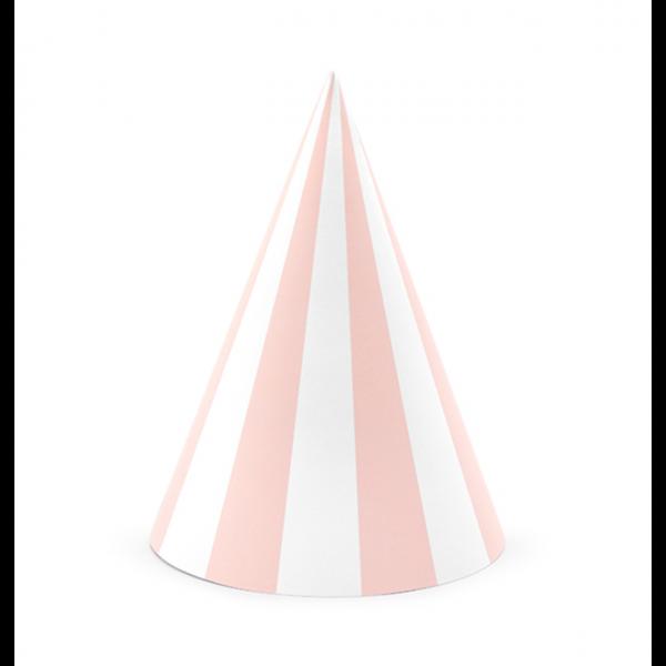 Partyhüte rosa weiß gestreift