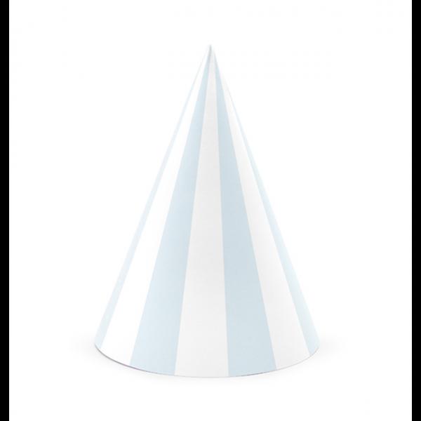 party hüte blau weiss gestreift