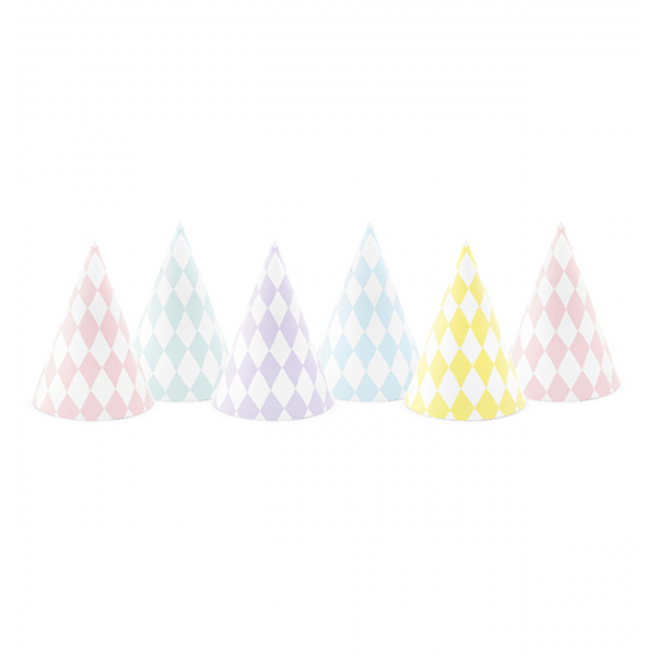 Partyhüte pastell mix